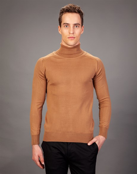 SWEATER WOOL TURTLE NECK PLAIN   KAZAK SWEATER