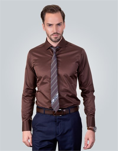 MODERN FIT DIMI DOTTI - BROWN