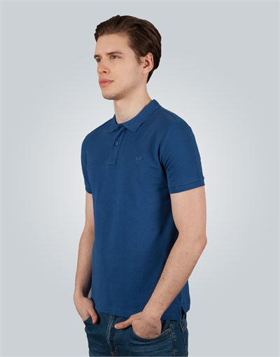 Polo Neck Plain Pique T-Shirt