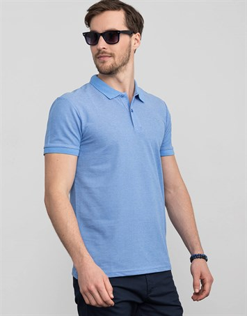 PLAIN PIQUE MELANGE T-SHIRT 71/1   TİŞÖRT SLIM FIT T-SHIRT
