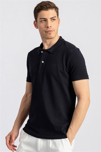 SLIM FIT PLAIN PIQUE T-SHIRT 81/1   TİŞÖRT SLIM FIT T-SHIRT